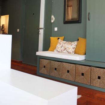 Mobilier sur mesure - création d'une entrée d'appartement
